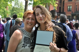 Graduation day (2012). My beautiful girl and her beautiful hair. I straightened mine for the day.