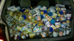 This is what $8,000 worth of baby food and formula looks like!  Best donation ever, and one of the happiest days!