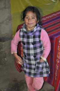 A wonderful little girl I met in the Andes