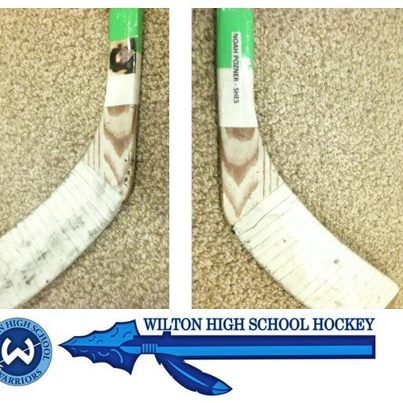 My nephew Ben's hockey stick, now bears the name of Noah Pozner, who will never play hockey... but who will be remembered.