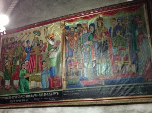 Painting in an ancient Ethiopian church, with faces from many faiths.