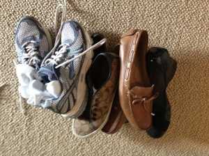 You can't have too many shoes... unless they don't fit in your bag.