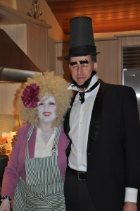 Your hosts: Effie Trinket (Hunger Games) and Lincoln