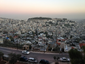 Wadi al-Joz, from the Old Wall in Jerusalem. Yes, we drove through that bustling place.