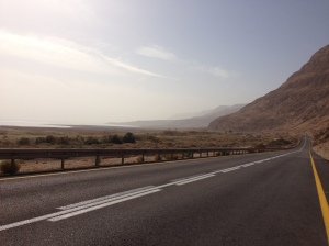 The road to Ein Gedi and the Dead Sea