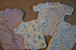 When her hands were steady, Mom hand painted dozens of onsies for my girl and my boys!