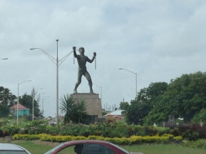 Emancipation statue. Amazing to see, as you come around the rotary!