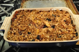 Fall= Apple/blueberry crisp