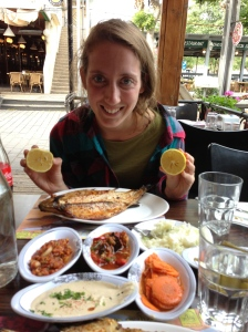 Israel is all about the food, and this girl