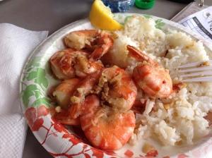 Hawaii= garlic shrimp
