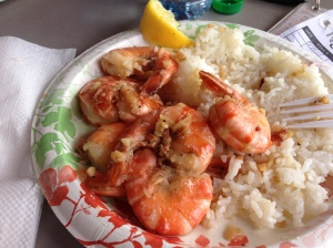 Hawaii= garlic shrimp