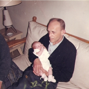 I love the way my grandpa held my little leg.