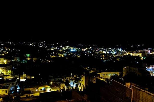 Bethlehem by night, photographed by my daughter, E.L.L.