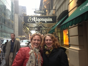 Tales From the Motherland and Cyclingrandma, outside the Algonquin