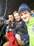 China, Germany and U.S. at a Sounders game