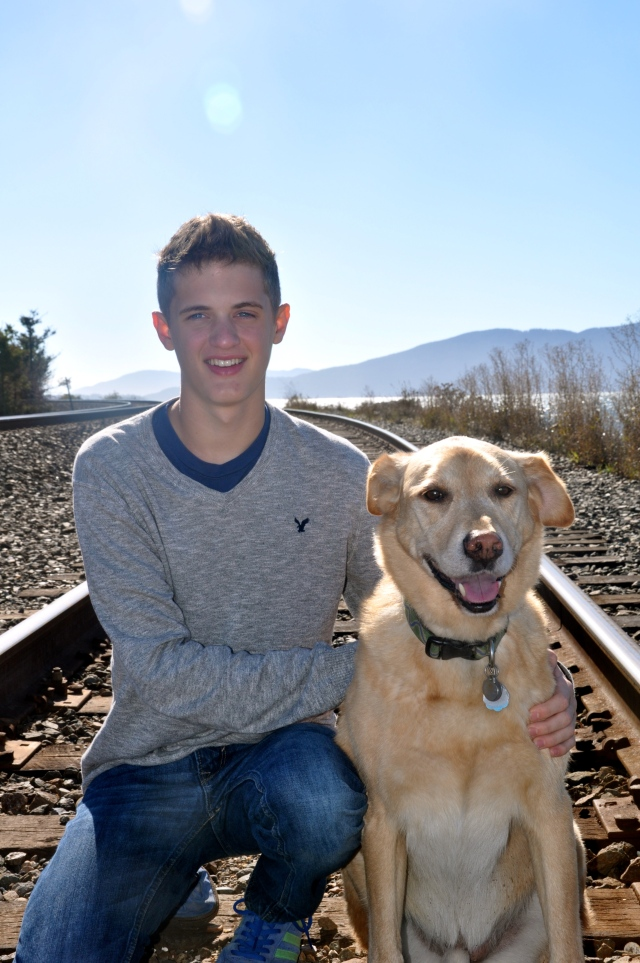 Graduation photo, with his buddy Luke