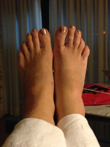 My feet, are going to bed!