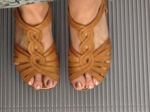 My feet were taking it all very seriously... walk, walk, walking!