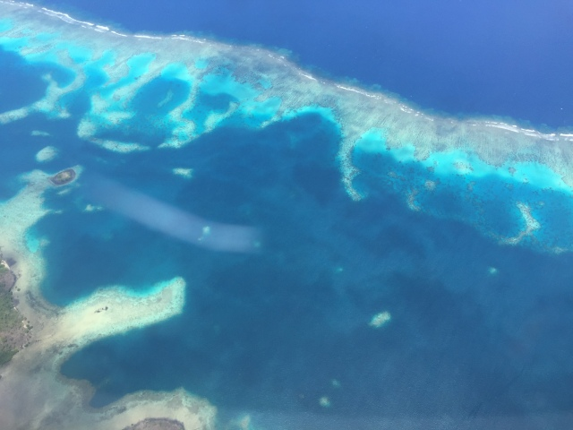 Flying over Fiji
