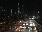 1 World Trade Center from the Brooklyn Bridge, at night