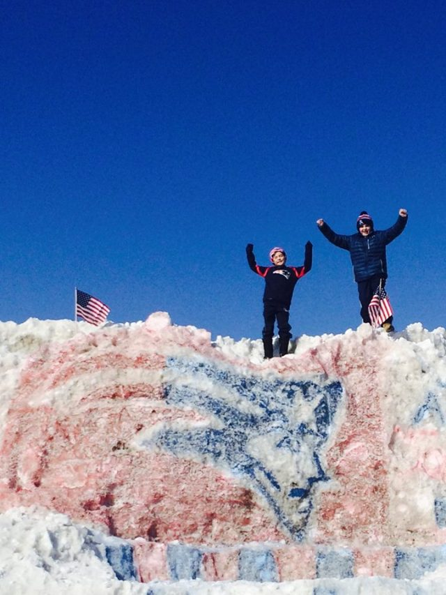 And no one can tell me that my cousins Ben and Jack wouldn't give any #12 a run for their money! Playing on an epic (25' tall) snow pile built in Barnstable, MA by friends.