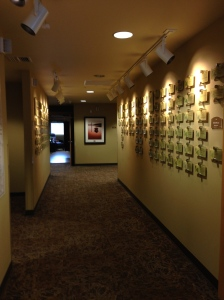 Hospice House entry hall, with memoriam plaques...