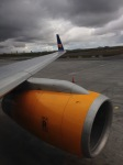 Sitting on the runway in Reykjavik, wishing we could stay!