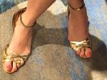 gold feet...