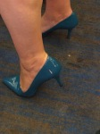 Teal feet, and