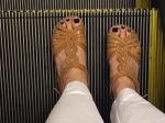 My day one feet...