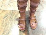 There were warrior feet...
