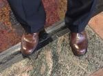 standing guard feet...