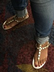 simply studded feet, and...