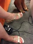 and recharging feet...